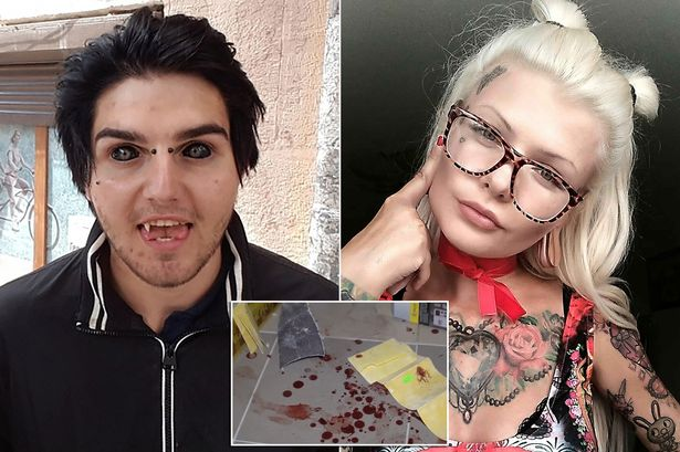 Demon with fangs accused of killing woman found with bite marks